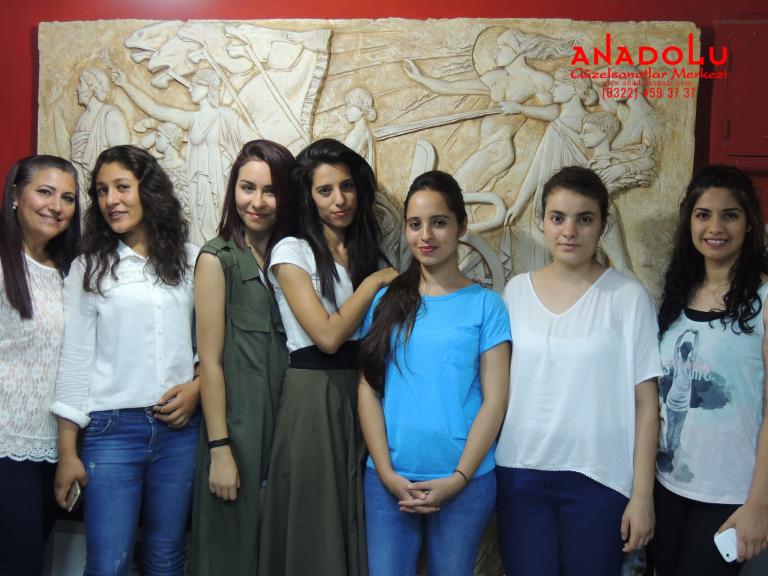 Anadolu Güzel Sanatlar Öğrencileri Çukurovada