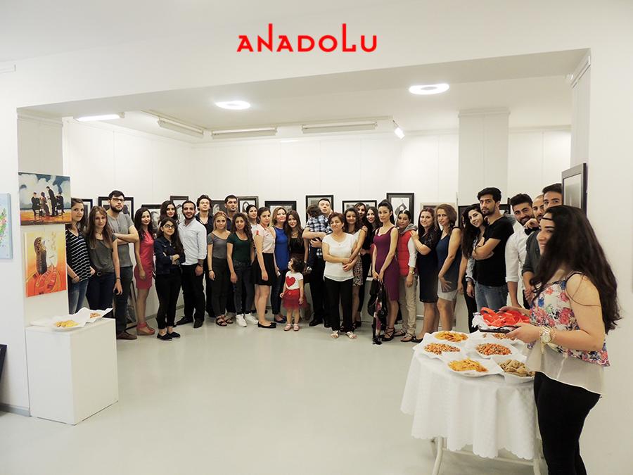 Anadolu Güzel Sanatlarda Sergi Açılışı Çukurovada