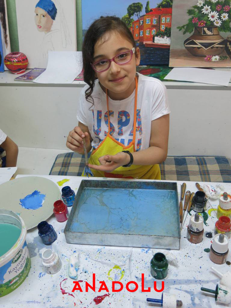 Diyarbakırda Çocuklar İçin Özel Ebru Kursları