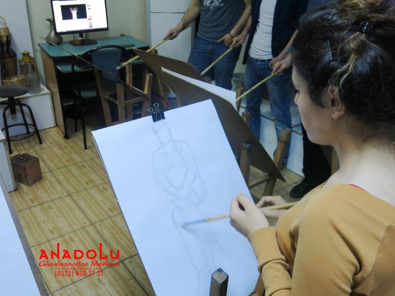 Güzel Sanatlara Hazırlık Desen Dersleri Çukurovada