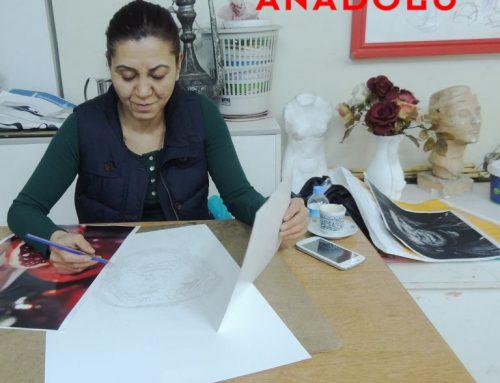 Diyarbakırdaki Yağlı Boya Çizim Teknik Çalışmaları