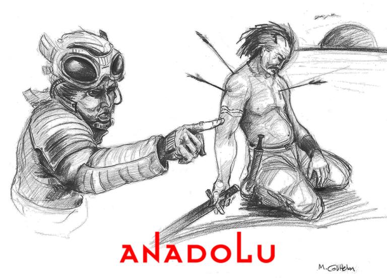 Karakalem İmgesel Yaralanan Adam Çizimi Çukurovada