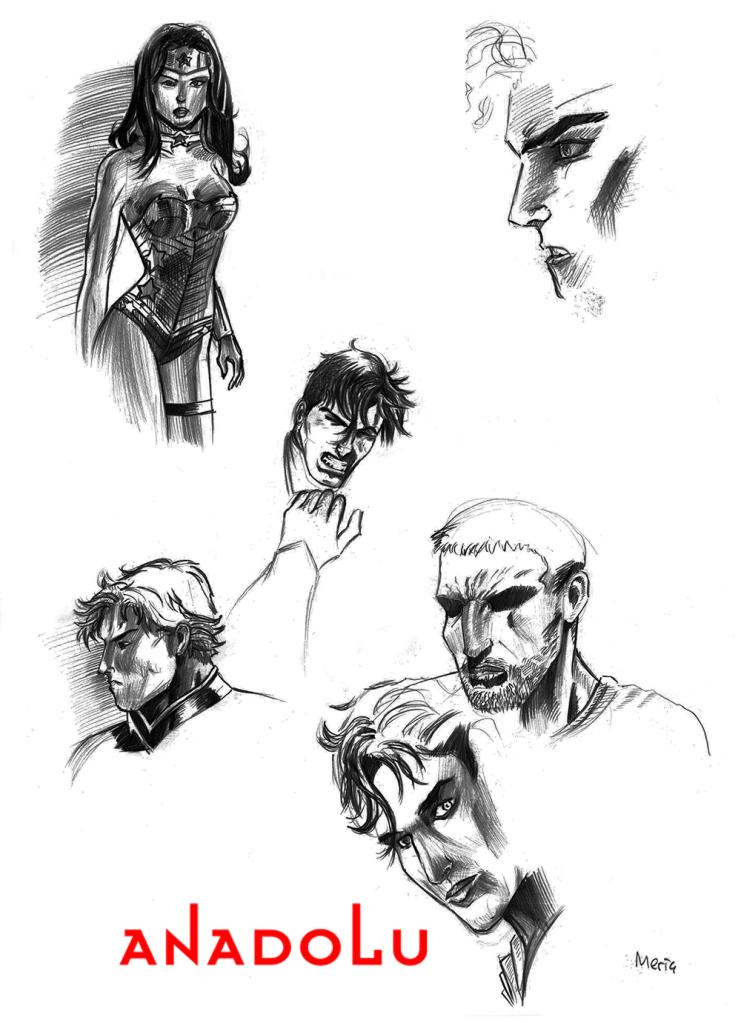 Karakalem Portre Çizimleri Çukurovada