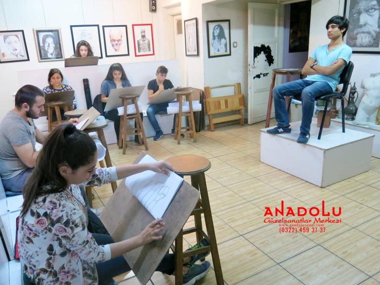 Anadolu Güzel Sanatlarda Resim Kursları Devam Etmekte Çukurovada