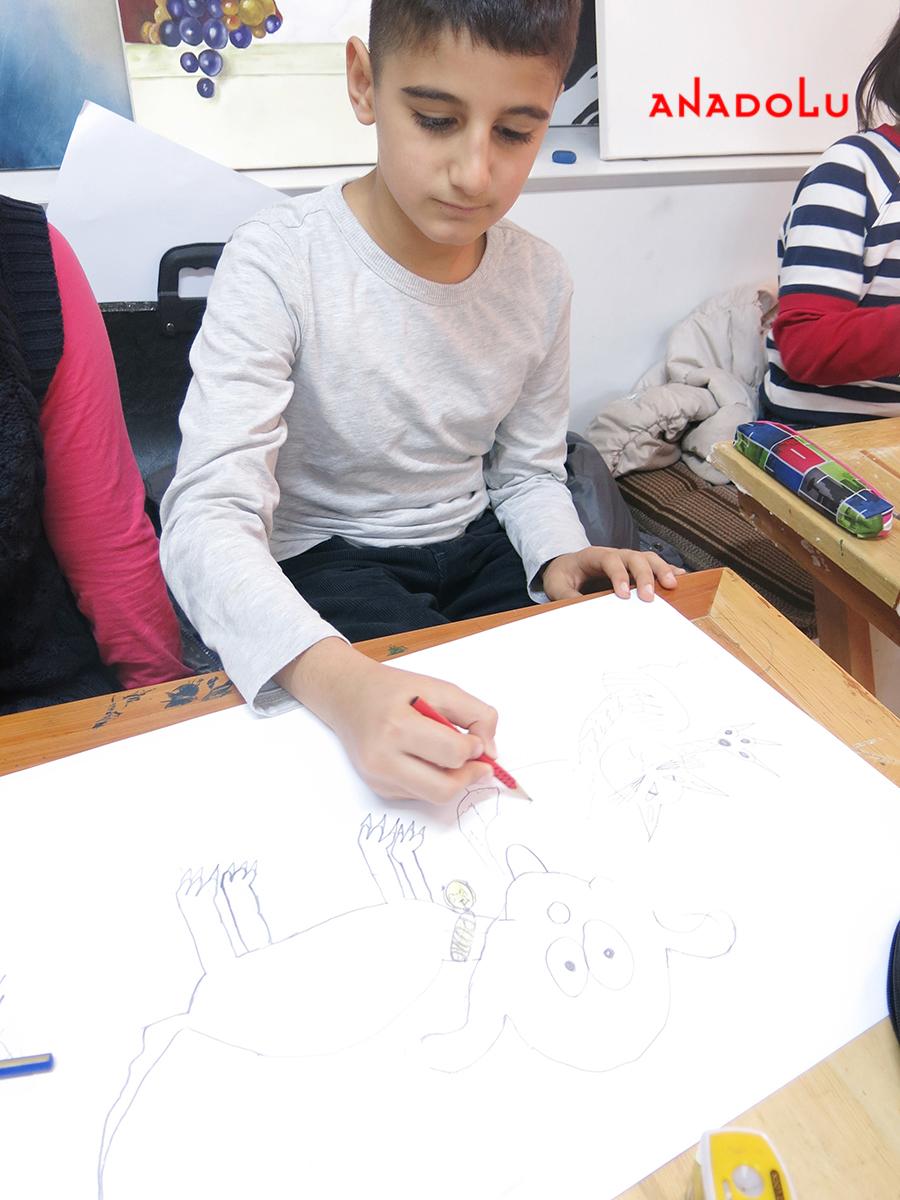 Çocuklar İçin Karakalem Eğitimleri Diyarbakır