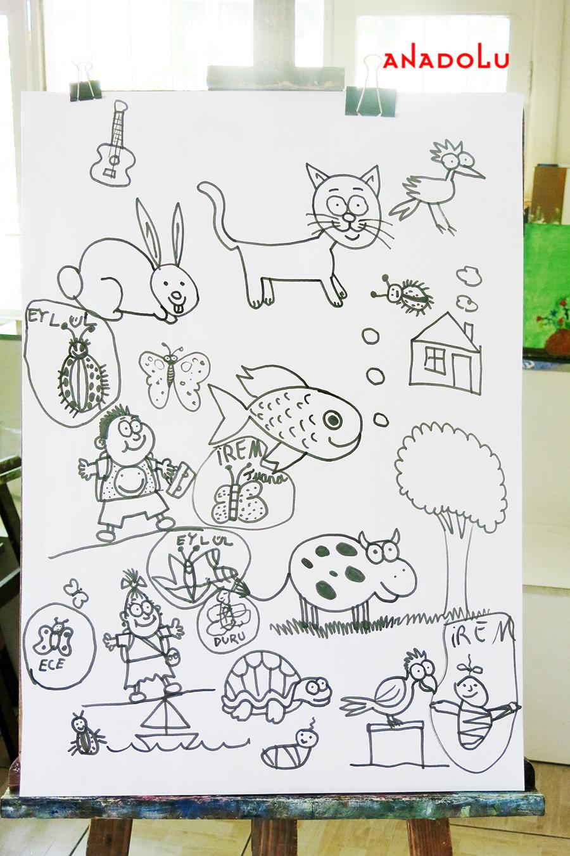 Çocuklarla Karakalem Çalışmaları Diyarbakır
