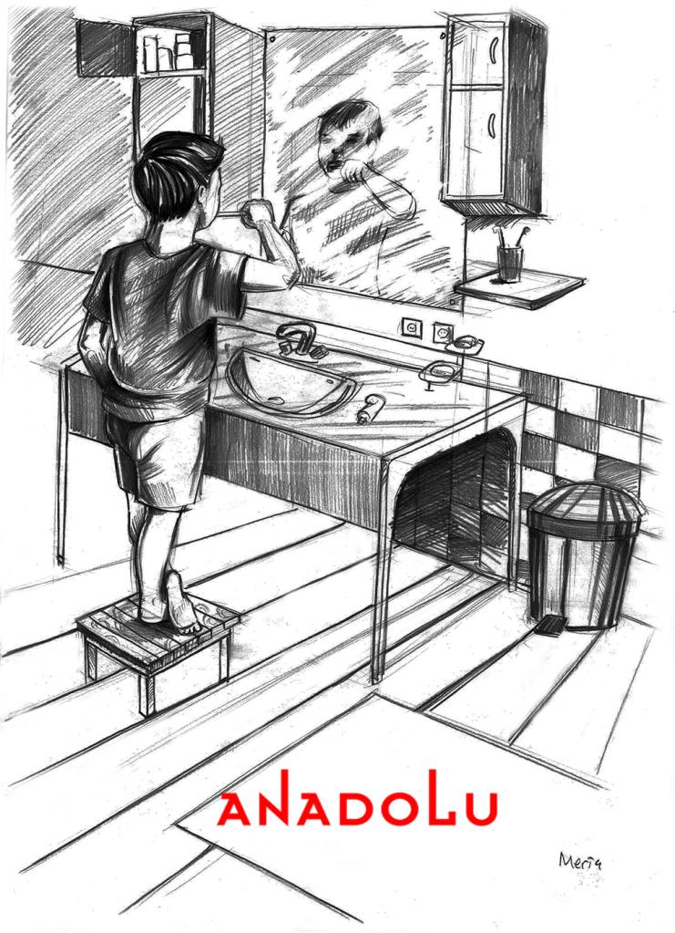 Karakalem Diş Fırçalayın Çocuk Çizimleri İzmir