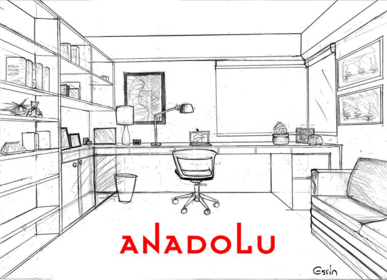 Çalışma Odası Çizim Görselleri Diyarbakır